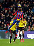 Crystal Palace's Christian Benteke tussles with Watford's Miguel Britos during the premier league match at Selhurst Park Stadium, London. Picture date 12th December 2017. Picture credit should read: David Klein/Sportimage