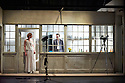 Fraulein Julie. A Schaubuhne Berlin Production  directed by Katie Mitchell based on Miss Julie by August Strinberg. A  version by Katie Mitchell translated by Maja Zade. Luise Wolfman as Miss Julie,  Tilman Strauss as Jean.  Opens at The Barbican Theatre on 30/4/13. CREDIT Geraint Lewis
