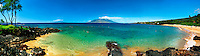 Famous diving spot, Turtle Town, at Malu'aka beach at the Makena Resort, Maui, Hawaii.