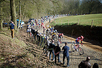 peloton over the Kemmelberg<br /> <br /> 3 Days of West-Flanders 2015<br /> stage 2: Nieuwpoort - Ichtegem 184km