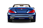 Straight rear view of 2017 Mercedes Benz SL-Class SL450 2 Door Convertible Rear View  stock images