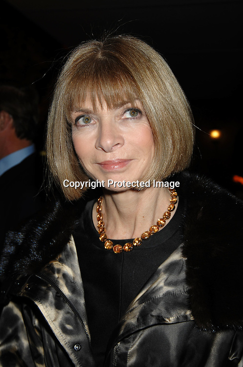 Anna Wintour..arriving at the party Louis Vuitton  had for artist Olafur Eliasson on November 9, 2006 at the Louis Vuitton ..Fifth Avenue Maison in New York City. ..Robin Platzer, Twin Images