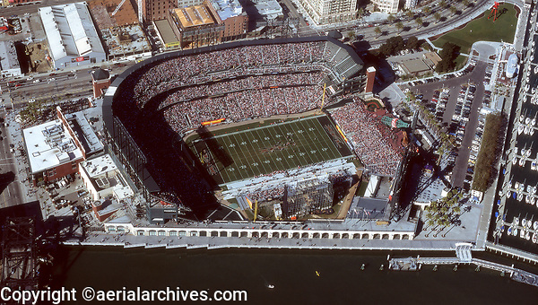 aerial photograph XFL football game AT&T stadium San Francisco, CA