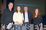 Dave Fanning, Aideen O'Sullivan, Dingle Award Winner Documentary Short for Home Turf filmed at Ballyduff, Kieran Ruttledge who presented the award and Sarah Smith at Kerry Film Festival awards at Saint Johns Church Ashe Street on Saturday.