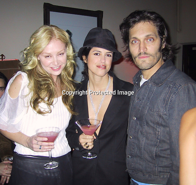 Portia De Rossi & Vincent Gallo.**EXCLUSIVE**.ABSOLUT STELLA.ABSOLUT and Famed Fashion Designer Stella McCartney Colaborate To Create Exclusive New Advertising Campaign.Chateau Marmont Hotel.West Hollywood, CA, USA.Thursday, October 17, 2002.Photo By Celebrityvibe.com
