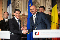 French Prime Minister Manuel Valls in Belgium to discuss about anti-terrorism - Brussels