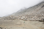 INDIA, GANGOTRY JUNE 2015;<br /> Gangotri Glacier is one of the primary sources of the Ganges and it is one of the largest in the Himalayas with an estimated volume of over 27 cubic kilometers. The terminus of the Gangotri Glacier is said to resemble a cow's mouth, and the place is called Gomukh.<br /> The Gangotri glacier is a traditional Hindu pilgrimage site. Devout Hindus consider bathing in the icy waters near Gangotri town to be a holy ritual, and many made the trek to Gomukh. The Gangotri glacier is rapidly disintegrating, states the latest observation of a team from the Almora-based G.B. Pant Institute of Himalayan Environment and Development.<br /> The team of the institute, which has been monitoring the Himalayan glaciers, particularly the Gangotri, since 1999, visited the glacier between June and October, this year. Kireet Kumar, Scientist in the Glacial Study Centre of the institute, said, &ldquo;Our team has been observing disintegration in the snout of the Gangotri glacier for around three year now &ldquo;<br /> A 2008 research report stated: &ldquo; The Gangotri glacier is retreating like other glaciers in the Himalayas and its volume and size are shrinking as well &rdquo;<br /> The glacier has retreated more than 1,500 meters in the last 70 years.<br />