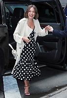 NEW YORK, NY - April 8:  Lindsay Price seen at Strahan & Sara in New York City on April 08, 2019. <br /> CAP/MPI/RW<br /> ©RW/MPI/Capital Pictures