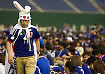 June 15, 2014, Tokyo, Japan - A dejected Japanese football fan after watching the FIFA World Cup Brazil 2014 Group C match between Japan and Cote d'Ivoire at a public viewing held at Tokyo Dome on Sunday, June 15, 2014. Cote d'Ivoire beat Japan in a 2-1 victory in the preliminary round match during the 2014 FIFA World Cup in Recife, Brazil. (Photo by AFLO)