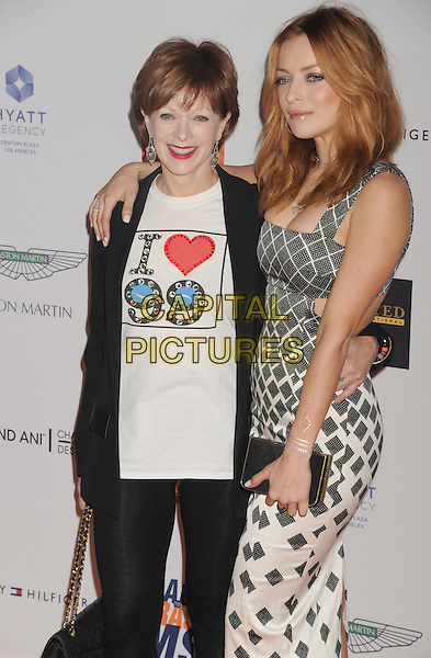 CENTURY CITY, CA - APRIL 24: Actresses Frances Fisher and daughter Francesca Eastwood arrive at the 22nd Annual Race To Erase MS at the Hyatt Regency Century Plaza on April 24, 2015 in Century City, California.