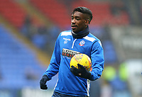 Bolton Wanderers' Sammy Ameobi warming up before the match against Fulham <br /> <br /> Photographer Leila Coker/CameraSport<br /> <br /> The EFL Sky Bet Championship - Bolton Wanderers v Fulham - Saturday 10th February 2018 - Macron Stadium - Bolton<br /> <br /> World Copyright &copy; 2018 CameraSport. All rights reserved. 43 Linden Ave. Countesthorpe. Leicester. England. LE8 5PG - Tel: +44 (0) 116 277 4147 - admin@camerasport.com - www.camerasport.com