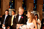 Elegant wedding ceremony in the church at Reid Castle, Manhattanville College