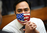 Vice Chair United States Representative Joaquin Castro (Democrat of Texas), wears a face mask during a House Committee on Foreign Affairs hearing looking into the firing of State Department Inspector General Steven Linick, on Capitol Hill in Washington, D.C. on Wednesday, September 16, 2020. <br /> Credit: Kevin Dietsch / Pool via CNP /MediaPunch