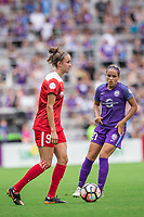 Orlando, FL - Saturday April 22, 2017: Havana Solaun, Monica during a regular season National Women's Soccer League (NWSL) match between the Orlando Pride and the Washington Spirit at Orlando City Stadium.