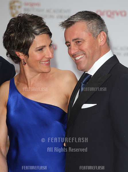 Tamsin Greig and Matt Le Blanc arriving for the TV BAFTA Awards 2013, Royal Festival Hall, London. 12/05/2013 Picture by: Alexandra Glen / Featureflash