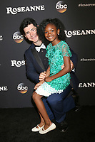 "LOS ANGELES - MAR 23:  Michael Fishman, Jayden Rey at the ""Roseanne"" Premiere Event at Walt Disney Studios on March 23, 2018 in Burbank, CA"
