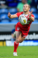 PICTURE BY CHRIS MANGNALL /SWPIX.COM...Rugby League - International Origin Match  - England v Exiles - Galpharm Stadium, Huddersfield, England  - 04/07/12... England's Rob Burrow