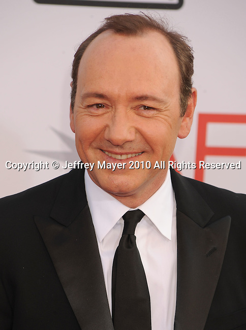 CULVER CITY, CA. - June 10: Kevin Spacey arrives at the 38th Annual Lifetime Achievement Award Honoring Mike Nichols held at Sony Pictures Studios on June 10, 2010 in Culver City, California.