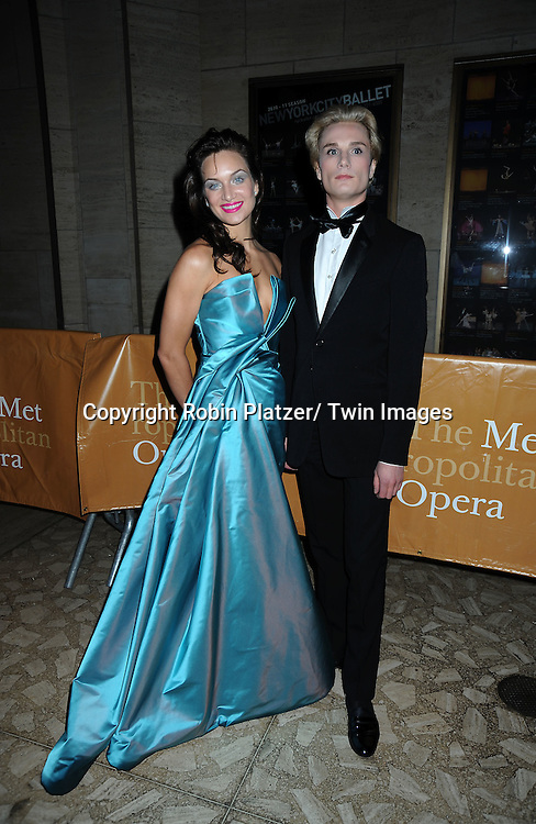 Carly Scarlett and brother Austin Scarlett posing for photographers at The Metropolitan Opera Fall 2010 Season Opening of Das Rheingold on September 28, 2010 at the Metropolitan Opera House in Lincoln Center in New York City. .