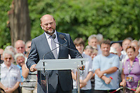Martin Schulz president of the European Parliament attends the funeral of Gyula Horn former prime minister of Hungary in Budapest, Hungary on July 08, 2013. ATTILA VOLGYI