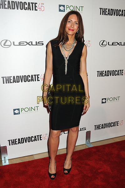 Michelle Clunie.The Advocate 45th Benefiting The Point Foundation held at the Beverly Hilton Hotel, Beverly Hills, California, USA..March 29th, 2012.full length black sleeveless dress necklaces .CAP/ADM/BP.©Byron Purvis/AdMedia/Capital Pictures.