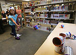 Madeline Espinoza, 11, plays Jedi games during the Star Wars Day celebration at the Carson City Library in Carson City, Nev. on Wednesday, May 4, 2016.<br />Photo by Cathleen Allison