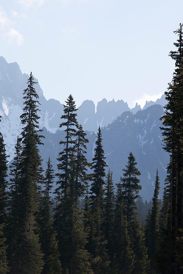 Mountain views in North Cascades National Park, Washington State, WA, USA