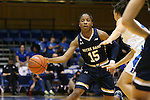 01 February 2016: Notre Dame's Lindsay Allen. The Duke University Blue Devils hosted the University of Notre Dame Fighting Irish at Cameron Indoor Stadium in Durham, North Carolina in a 2015-16 NCAA Division I Women's Basketball game. Notre Dame won the game 68-61.