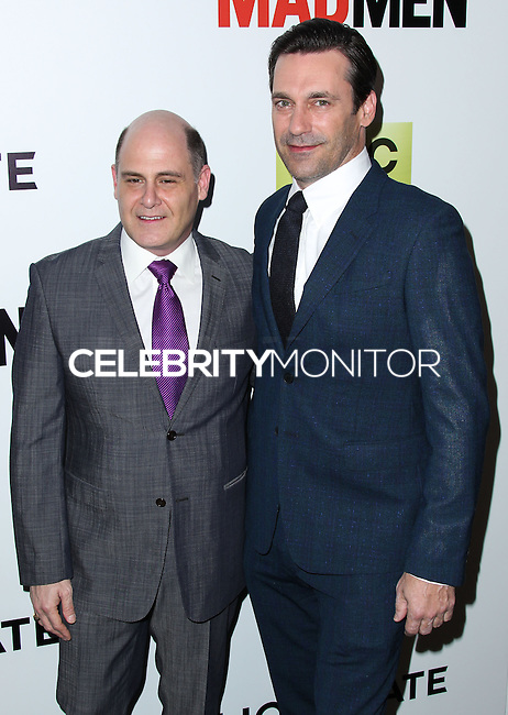 "HOLLYWOOD, LOS ANGELES, CA, USA - APRIL 02: Matthew Weiner, Jon Hamm at the Los Angeles Premiere Of AMC's ""Mad Men"" Season 7 held at ArcLight Cinemas on April 2, 2014 in Hollywood, Los Angeles, California, United States. (Photo by Xavier Collin/Celebrity Monitor)"