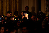 United States President Barack Obama  shakes hands at the end of a  Hanukkah reception in the East room of the White House, in Washington, DC, December 9, 2015. <br /> Credit: Aude Guerrucci / Pool via CNP