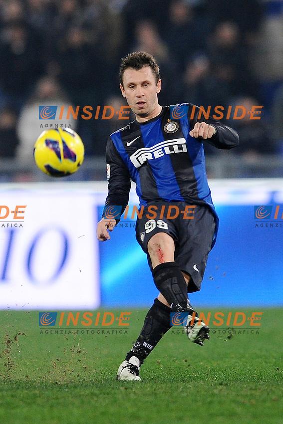 Antonio Cassano Inter.15/12/2012 Roma.Stadio Olimpico.Football Calcio 2012 / 2013 .Campionato di Calcio Serie A.Lazio vs Inter.Foto Insidefoto / Antonietta Baldassarre.