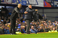 Rotherham United Manager Paul Warne left and Portsmouth Manager Kenny Jackett give instructions in the final minutes of the match during Portsmouth vs Rotherham United, Sky Bet EFL League 1 Football at Fratton Park on 26th November 2019