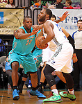 SIOUX FALLS, SD - FEBRUARY 1:  Demetris Nichols #23 from the Sioux Falls Skyforce strips the ball from Marcus Landry #32 from the Reno Bighorns in the first quarter Friday night at the Sioux Falls Arena. (Photo by Dave Eggen/Inertia)