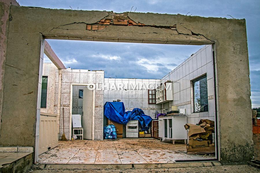 Destruiçao por tornado na cidade de Xanxere. Santa Catarina. 2015. Foto de Andre Arcenio.