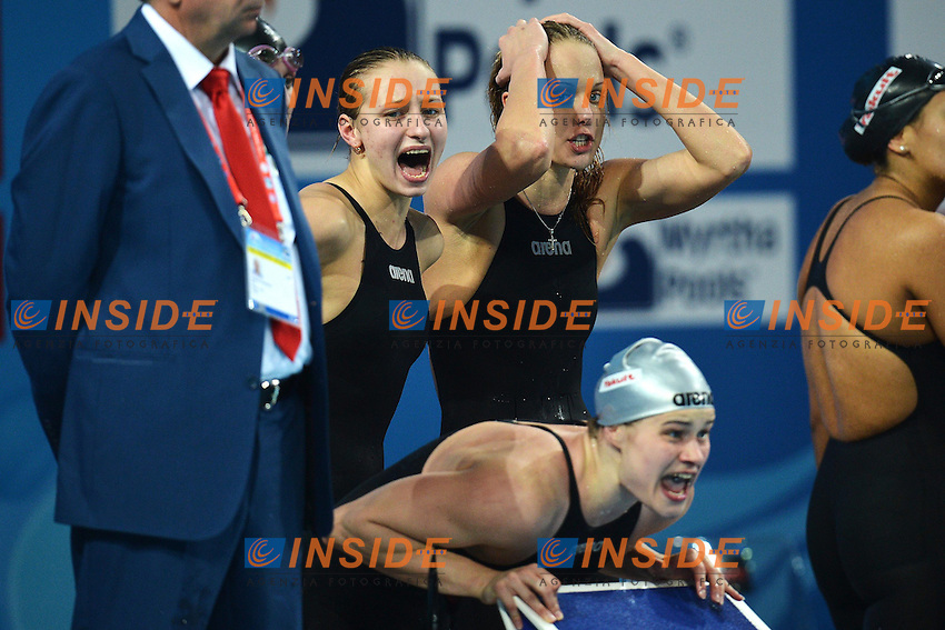 Russia Silver Medal Women's 4x200 Freestyle Relay .Istanbul 12/12/2012 Sinan Erdem Dome.World Swimming Championships Short course 25m Nuoto Istanbul.Foto Andrea Staccioli Insidefoto