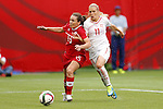 (L-R) Allysha Chapman (CAN), Lala Dickenmann (SUI), JUNE 21, 2015 - Football / Soccer : <br /> FIFA Women's World Cup Canada 2015 Round of 16 match between Canada 1-0 Switzerland at BC Place Stadium, <br /> Vancouver, Canada. (Photo by Yusuke Nakansihi/AFLO SPORT)
