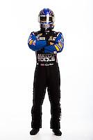 Jan 16, 2013; Palm Beach Gardens, FL, USA; NHRA top fuel driver Antron Brown poses for a portrait. Mandatory Credit: Mark J. Rebilas-