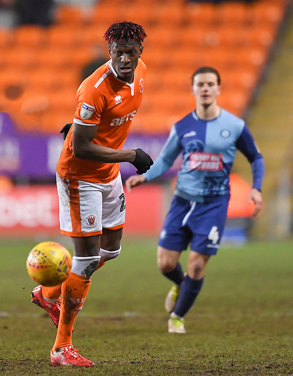 Blackpool's Armand Gnanduillet<br /> <br /> Photographer Dave Howarth/CameraSport<br /> <br /> The EFL Sky Bet League One - Blackpool v Wycombe Wanderers - Tuesday 29th January 2019 - Bloomfield Road - Blackpool<br /> <br /> World Copyright © 2019 CameraSport. All rights reserved. 43 Linden Ave. Countesthorpe. Leicester. England. LE8 5PG - Tel: +44 (0) 116 277 4147 - admin@camerasport.com - www.camerasport.com