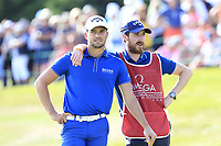 Haydn Porteous (RSA) on the 18th green during Sunday's Final Round 4 of the 2018 Omega European Masters, held at the Golf Club Crans-Sur-Sierre, Crans Montana, Switzerland. 9th September 2018.<br /> Picture: Eoin Clarke | Golffile<br /> <br /> <br /> All photos usage must carry mandatory copyright credit (&copy; Golffile | Eoin Clarke)