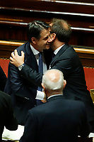 Giuseppe Conte and Alfonso Bonafede<br /> Rome September 10th 2019. Senate. Discussion and Trust vote at the new Government. <br /> Foto  Samantha Zucchi Insidefoto
