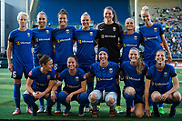 Seattle, WA - Saturday, July 1, 2017:  Seattle Reign FC starting eleven during a regular season National Women's Soccer League (NWSL) match between the Seattle Reign FC and the Portland Thorns FC at Memorial Stadium.