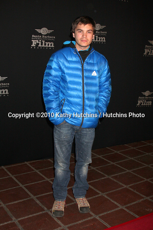 "Emile Hirsch.arriving at the ""180 Degree South""  World Premiere at the Santa Barbara International Film Festival.Arlington Theater.Santa Barbara, CA.February 10, 2010.©2010 Kathy Hutchins / Hutchins Photo...."