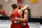 NAPERVILLE, IL - MARCH 11: Cortland State's Jack Flood is congratulated after the Men's Heptathlon at the Division III Men's and Women's Indoor Track and Field Championship held at the Res/Rec Center on the North Central College campus on March 11, 2017 in Naperville, Illinois. (Photo by Steve Woltmann/NCAA Photos via Getty Images)