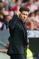Diego Pablo Cholo Simeone of Atletico Madrid during the match between Real Madrid v Rayo Vallecano of LaLiga, 2018-2019 season, date 2. Wanda Metropolitano Stadium. Madrid, Spain - 25 August 2018. Mandatory credit: Ana Marcos / PRESSINPHOTO