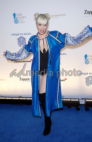 18 March 2016 - Las Vegas, Nevada -  Natasha Bedingfield. Cirque Du Soleil presents star-studded blue carpet at Fourth Annual One Night for ONE DROP at the Cleveland Clinic Lou Ruvo Center for Brain Health. Photo Credit: MJT/AdMedia