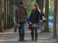 Wonder (2017)<br /> Nadji Jeter as &quot;Justin&quot; and Izabela Vidovic as &quot;Via&quot;  <br /> *Filmstill - Editorial Use Only*<br /> CAP/KFS<br /> Image supplied by Capital Pictures
