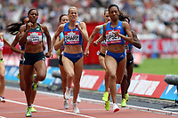 Charlene Lipsey of USA and Lynsey Sharp of Great Britain and Shelayna Oskan-Clarke of Great Britain compete in the womenís 800 metres during the Muller Anniversary Games at The London Stadium on 9th July 2017