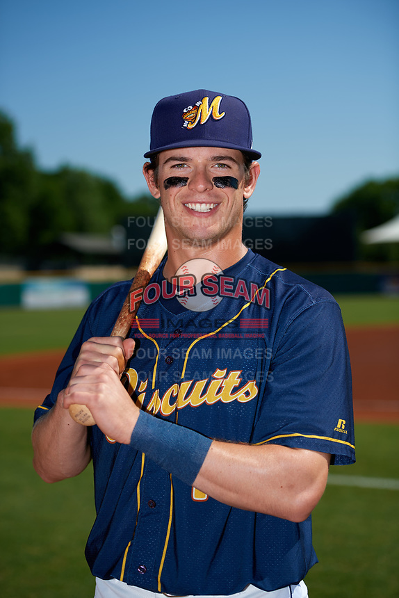 Montgomery Biscuits Nick Solak (14) poses for a photo before a game against the Biloxi Shuckers on May 8, 2018 at Montgomery Riverwalk Stadium in Montgomery, Alabama.  Montgomery defeated Biloxi 10-5.  (Mike Janes/Four Seam Images)