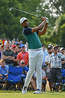 Tony Finau (USA) watches his tee shot on 6 during 4th round of the 100th PGA Championship at Bellerive Country Club, St. Louis, Missouri. 8/12/2018.<br /> Picture: Golffile   Ken Murray<br /> <br /> All photo usage must carry mandatory copyright credit (© Golffile   Ken Murray)