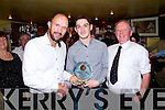 Micheal O'Shea, Castlemaine, Receiving a special presentation on friday night from Bernard O'Sullivan, Comhaltas, and Tom McKenna, West Limerick Singing Club. Micheal is All Ireland Seniors Men english singing champion 2014. The presentation was given as part of the Garry McMahon Singing Weekend.